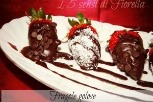 Fragole golose al cioccolato croccante