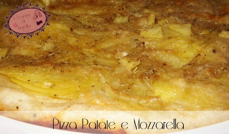 pizza con patate e mozzarella dopo