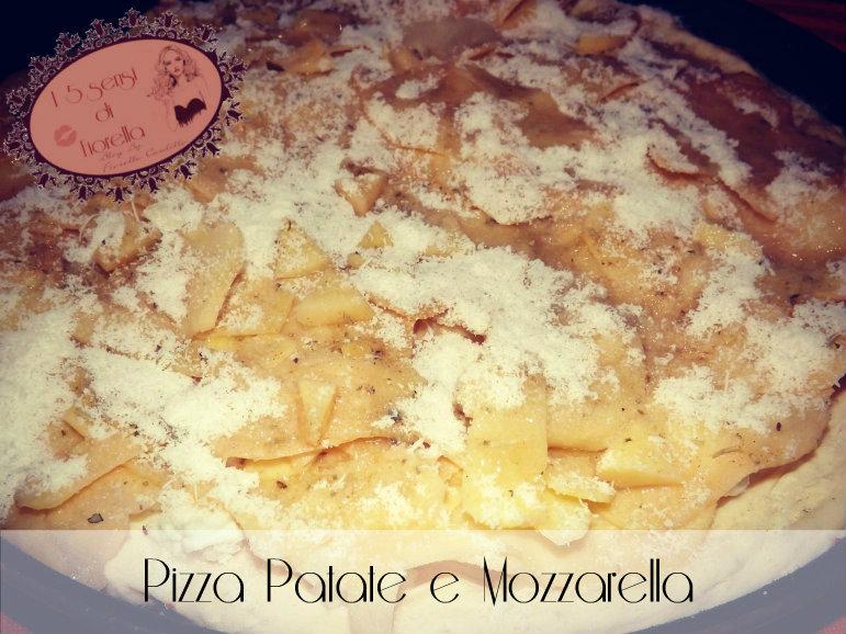 pizza con patate mozzarella prima